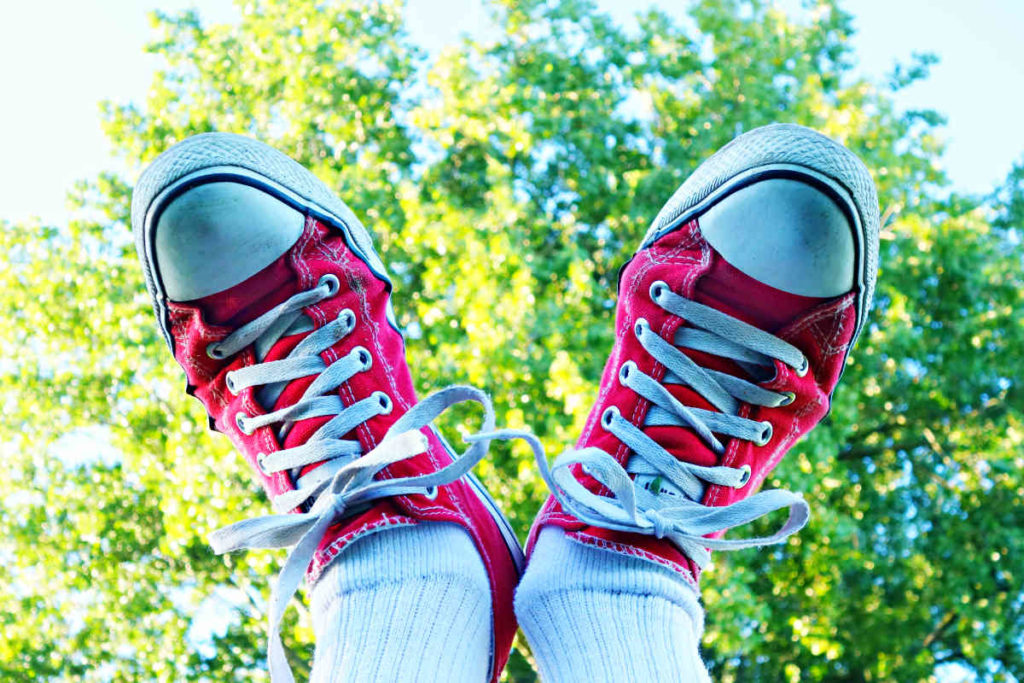 germs and bacteria on sneakers
